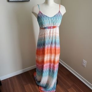 Anthro-Charlie Jade Maxi Belted Dress Size S